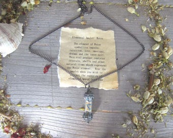 Elemental Amulet - WATER - witchcraft jewelry, wiccan elements wicca pagan occult magick witchy gothic spells magickgift