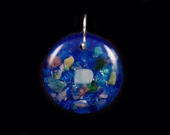 Orgone Positive Energy Generator Pendant with multiple stones (see list in description) (e44)