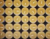 150 Beeswax Tea Lights -  ; ) NON-Parrifin Dipped & NON-metal cored Wicks
