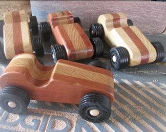 Wooden Toy Midget Racers, A Pair of Hot Rods