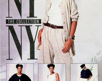 Sz 14/16/18 - McCall's Pattern 6434 - Misses' Jacket In Two Lengths, Top, Pants, And Shorts - NY The Collection