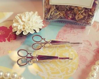 Artistic Silver Hair Pins -  Bobby Pins