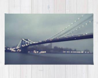 Brooklyn Bridge Photography Rug