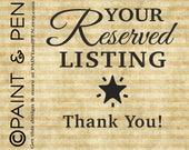 Reserved- Special Order- Print Upgrade- Custom Printing and Shipping Options- Logo Work- Photo Tweaking- BlackWhiteDeSigns Orders