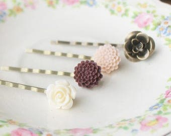 Boho Hair Pins - Floral Hair Pins for Wedding - Bridesmaid Hair Accessories - Bridal Hair Pins - Flower Hair Pins - Bridesmaid Hair Pins