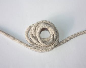 3 mm BEIGE Cotton Rope = 5 Yards = 4.57 Meters of Elegant Cotton Braided Cord - Bulky Yarn - Super Bulky Yarn - Macrame Cotton Cord
