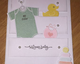 Welcome baby card (boy)