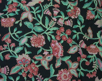 "Gorgeous Vintage Hoffman California Wood Block Fabric 2 Yards 42 1/2"" Wide"
