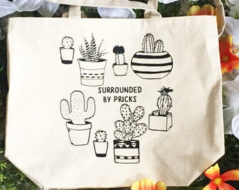 Surrounded by Pricks Farmer's Market Tote
