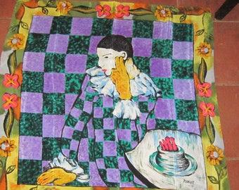 picasso silk scarf 1988 gorgeous