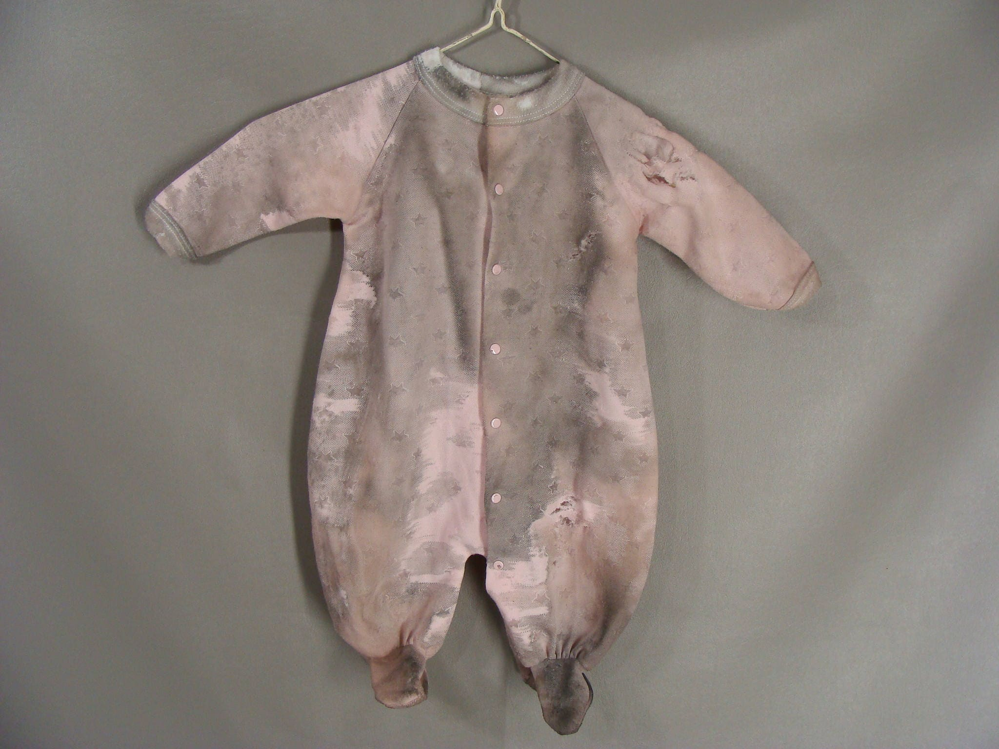 no blood baby girl zombie costume zom baby distressed pink sleeper pajamas
