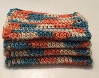 4 large dish cloths | dish rags | wash cloths made of 100% super soft Dishie cotton yarn- Beachcomber
