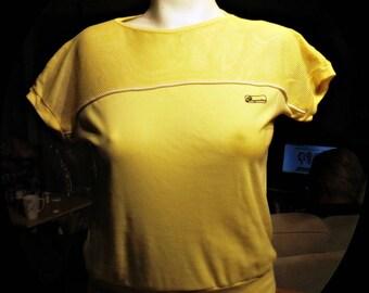 Womans Vintage Cotton Blend Top Size Medium  #356