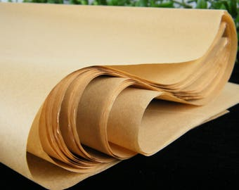 """Kraft Tissue Paper 144 sheets (6 packs of 24 sheets) Kraft Recycled Natural  20"""" X 30"""" Tissue Paper Sheets - Eco Friendly Packaging"""