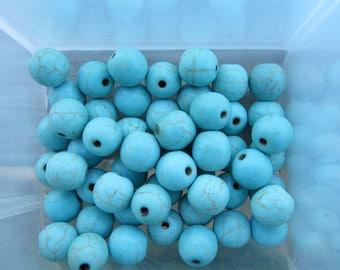8mm Turquoise Magnesite Gemstone Beads