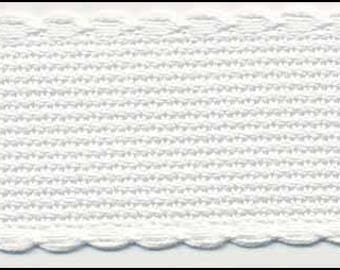Cross Stitch Banding Aida with White Trimming x 1 Metre long