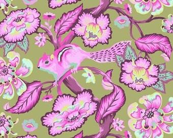 Chipmunk - Raspberry - PER 25CM - Tula Pink - CHIPPER - PWTP078 - 100% Cotton Quilt Fabric