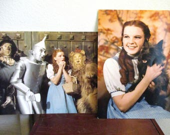 2 Vintage Wizard of Oz Small Posters - Dorothy and Toto Poster and Dorothy, Toto, Tin Man, Lion and Scarecrow Poster