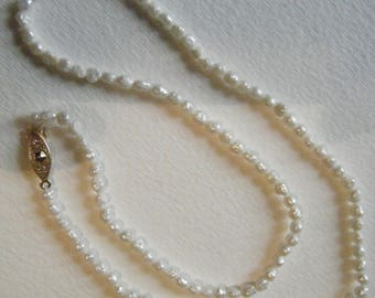 Freshwater Pearl Necklace 19 Inches // Delicate Jewelry//Free Shipping