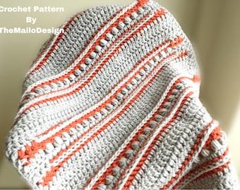 Crochet Pattern - Funny Tunnels Blanket / Crochet Blanket / Crochet Baby Blanket / Crochet Blanket Pattern / Crochet Pattern Blanket