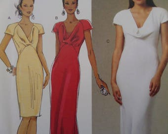 BRIDAL GOWN Pattern • Butterick 250 • Miss 14-22 • Wedding Dress • Bridesmaid  Dress • Drape Neck Gown • Bridal Patterns • WhiletheCatNaps