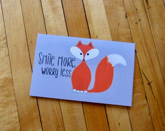 Smile More Worry Less Card