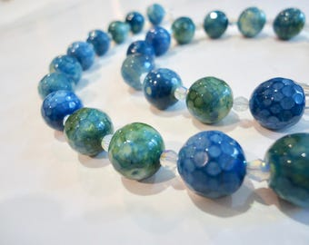 Blue Green Agate Necklace