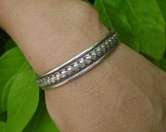 Thai Karen Silver Bracelet - Thai Silver Bracelet (25)