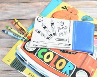 Pencil Case, Pencil Pouch, Pencil Zipper Case, Back to School, Organic Pencil Case, Kids Pencil Case, Cute Pencil Case, Pencil Holder