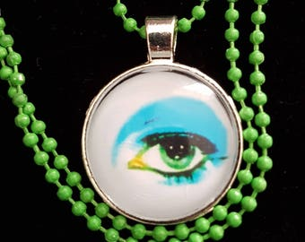 David Bowie Eye Charm pendant necklace.