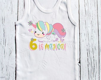 Birthday Unicorn magical unicorn birthday tee shirt one, two, three, or beyond birthday girls clothing unicorn birthday tee