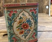 Vintage floral Daher tin will  ship free with any other order