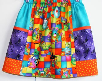 Boo to You  scrappy big pockets  skirt   (2T, 3T, 4T, 5T, 6, 7, 8, 10)