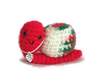 Crochet Snail - Pet Snail - amigurumi - made to order