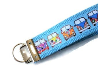 Hippie Van Key Fob - VW Bus - Retro Key Chain - 60s Throwback