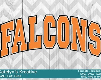 Falcons Arched SVG Files