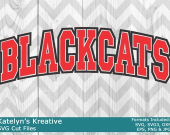 Blackcats Arched SVG Files