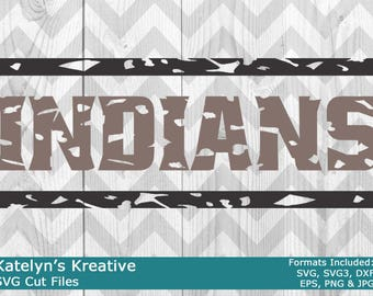 Indians Distressed SVG Files