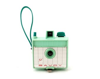 Vintage Savoy Camera in Mint Green (c.1960s) - Collectible Space Age Camera, Mid Century Camera