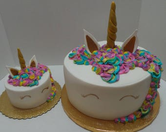 Fondant UNICORN HORN and EARS set - For your home made cake