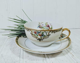 Cup & Saucer Set 2 Pieces of Noritake Morimura Chelsea Pattern Tea / Coffee Cup with Matching Saucer Individual Fine China Set - 9 Available