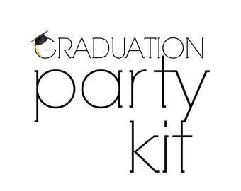 Graduation Party Kit, Graduation party decorations in a box!