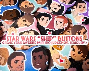 Star Wars Ship Buttons