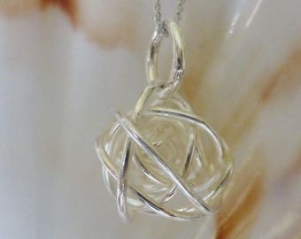 Silver Bound Sphere Necklace
