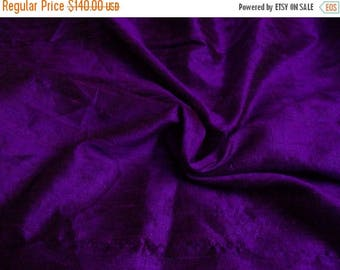 15% off on Wholesale fabric 10 yards of 100 Percent pure dupioni silk in purple