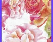 MAILER Watercolor ROSES Pastels Poly Bags Self Adhesive 10x13 Inch Designer Envelope