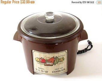 SALE Regal Poly Pot Slow Cooker #7533 PolyPot Crockpot Brown Made in USA