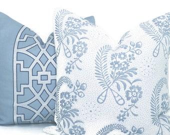 Schumacher Delft Blue Millicent Decorative Pillow Cover, Toss Pillow, Throw Pillow, Accent Pillow
