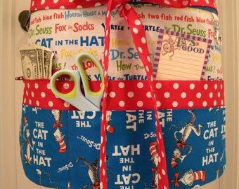 Teacher Aprons-Crafter Vendor Utility Apron-Cat in the Hat