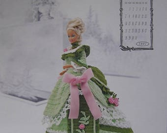 Annie's Attic Calendar Victorian Lady Centennial Miss March 1993 Fashion Bed Doll Crochet Pattern original no copy